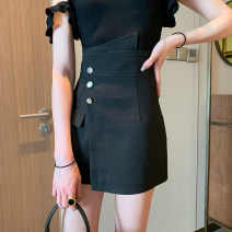 skirt Spring 2021 S,M,L black Short skirt commute High waist A-line skirt Solid color Type A 18-24 years old XX191203 More than 95% other Zifan polyester fiber Simplicity