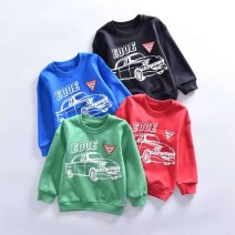 Sweater / sweater Very small fish Green, black, red, blue male 140cm,130cm,120cm,100cm,110cm spring and autumn nothing leisure time Socket routine No model cotton Solid color Cotton 100%