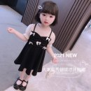 Dress black female Other / other 90cm,100cm,110cm,120cm,130cm Other 100% summer Korean version Long sleeves other other Splicing style Class B 12 months, 6 months, 9 months, 18 months, 2 years old, 3 years old, 4 years old, 5 years old, 6 years old, 7 years old, 8 years old Chinese Mainland
