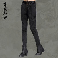 Casual pants Black (without belt) S (recommendation 25.26), m (recommendation 27), l (recommendation 28.29), XL (recommendation 30.31) Autumn of 2018 trousers Haren pants Natural waist street routine 25-29 years old 91% (inclusive) - 95% (inclusive) other pocket Europe and America Asymmetry