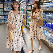 Dress Other / other Picture color M,L,XL,XXL Korean version Long sleeves Medium length spring