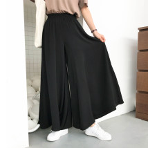 Casual pants black One size F Summer of 2018 trousers High waist commute eighty-one thousand one hundred and thirty-nine Time travel Retro