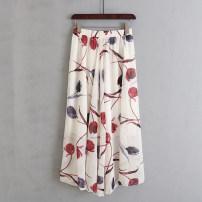 skirt Summer 2020 M, L Yellow cherry, blue feather, white tulip longuette Natural waist 51% (inclusive) - 70% (inclusive) Allie Aixi