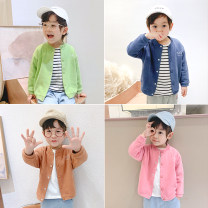 Plain coat Yiqi baby male 90cm,100cm,110cm,120cm,130cm Light purple, yellow, light blue, Navy, gray, black, dark blue, hemp gray, Avocado Green, blue-green, pink, khaki, light khaki, sand red, beige spring and autumn leisure time Single breasted There are models in the real shooting routine nothing