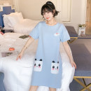 Nightdress Other / other J8353 , J8387 , J8389 , J8505 , J8509 , J8512 , J8516 , J8518 , J8519 , J8520 , J8521 , J8522 160(M),165(L),170(XL),175(XXL) Sweet Short sleeve Leisure home Middle-skirt summer other youth Crew neck cotton printing More than 95% pure cotton 200g and below