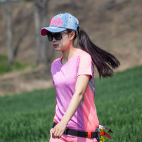 Quick drying T-shirt ... female ... Light grass green / light pink, light pink / light green, rose red / light pink Exploration base 101-200 yuan M,L,XL,XXL,XXXL Short sleeve Breathable, quick drying, ultra light, antistatic, other Summer 2020 Crew neck China Straight cylinder polyester fiber