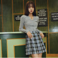 Casual pants Green Grid S, M Autumn 2020 shorts Wide leg pants High waist commute routine 25-29 years old 96% and above C203K043 BANANA CICI cotton Korean version fold cotton