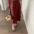 skirt Spring 2021 XS,S,M,L Mid length dress commute High waist A-line skirt Luhe garment Simplicity