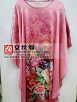 Nightgown / bathrobe Silk seal female Average size A-1,A-2,A-3,A-4,A-5,A-6,A-7,A-8,A-9,A-10,A-11,A-12,A-13,A-14,A-15,A-16,A-17,A-18,A-19,A-20 thickening silk summer Short (Mid Thigh to knee) silk Plants and flowers One piece