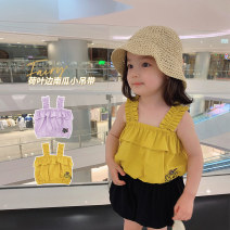 Vest sling I-shaped summer Chen Chen's mother female There are models in the real shooting leisure time Cartoon animation Other 100% 12 months, 18 months, 2 years old, 3 years old, 4 years old, 5 years old