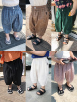 trousers Chen Chen's mother female 73 (ANN fit) 80 90 100 110 120 summer Cropped Trousers Versatile There are models in the real shooting Casual pants