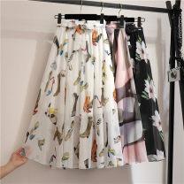 skirt Summer of 2019 Average size 29 white, 10, 22, 80, 6, 20, 33, 37, 4, 29 black, 1, 73 green, 73 red, 70, 3, 37 white, 48 black, 19, big white, 208, 43 big lotus, 11, 17, sunflower longuette Versatile High waist A-line skirt Decor Type A