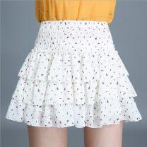 skirt Spring 2021 Average size Black, white arrow, black flower, black dot, black arrow Short skirt Versatile High waist Cake skirt Decor Type A 91% (inclusive) - 95% (inclusive) Chiffon polyester fiber