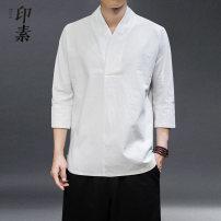 T-shirt Youth fashion routine M,L,XL,2XL,3XL,4XL,5XL Others three quarter sleeve V-neck easy Other leisure summer youth 2020