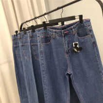 Women's large Summer 2020 Blue jeans 36, 38, 40, 42, 44, 46 trousers singleton  commute moderate Simplicity routine 25-29 years old trousers