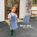 Dress blue female Qiqi Miaomiao 90cm,100cm,110cm,120cm,130cm Cotton 95% polyester 5% summer leisure time Cotton elastic denim Strapless skirt YC12QZ030 other 2 years old, 3 years old, 4 years old, 5 years old, 6 years old, 7 years old, 8 years old