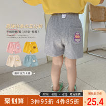 trousers Qiqi Miaomiao female 90cm,100cm,110cm,120cm Yellow, gray, blue, pink, beige summer shorts Korean version There are models in the real shooting Casual pants Leather belt cotton Cotton 95% polyurethane elastic fiber (spandex) 5% YB12KZ018 other Chinese Mainland Shanghai Shanghai