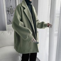 woolen coat Black, khaki, green M,L,XL,2XL Others Youth fashion C213 525 Medium length Other leisure easy youth tide Solid color other autumn other No iron treatment