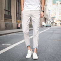 Casual pants Others Youth fashion Khaki, sapphire, grey, black, sky blue 27 (2.08 feet), 28 (2.16 feet), 29 (2.23 feet), 30 (2.31 feet), 31 (2.39 feet), 32 (2.46 feet), 33 (2.54 feet), 34 (2.62 feet), 36 (2.77 feet) thin Ninth pants Other leisure Self cultivation Micro bomb K18 summer teenagers 2020