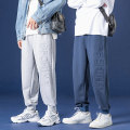 Casual pants Others Youth fashion Light grey, black, blue M,L,XL,2XL,3XL routine Ninth pants Other leisure easy A102-DF22 Four seasons like a breath of fresh air 2020 Little feet Polyester 100% Sports pants Solid color