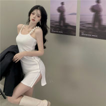 Dress Summer 2021 White, black Average size Other / other