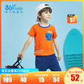 T-shirt 361° 101cm 110cm 120cm 130cm male summer Short sleeve Crew neck leisure time No model cotton Splicing Cotton 100% other Summer 2021 Three years old, four years old, five years old and six years old Chinese Mainland Fujian Province Quanzhou City