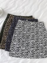 skirt Autumn 2020 S,M,L,XL Short skirt commute High waist A-line skirt Animal pattern Type A 18-24 years old 31% (inclusive) - 50% (inclusive) Other / other Korean version