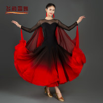 Modern dance suit (including performance clothes) Flying snow dance Waltz, tango, Foxtrot, trot female Black red S,M,L,XL,XXL other
