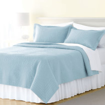 Bed cover cotton Other / other Bed cover 173x223cm + 2 pillowcases bed cover 223x223cm + 2 pillowcases bed cover 274x223cm + 2 pillowcases Solid color Light blue gray blue green Qualified products