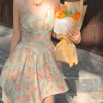 Dress Spring 2021 Oil painting mixed color, the second batch of oil painting mixed color S,M,L Short skirt commute other camisole Type X nylon