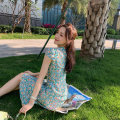 cheongsam Summer 2020 XS,S,M,L Short sleeve Short cheongsam Simplicity Low slit daily Decor 25-35 years old Crepe de Chine 96% and above