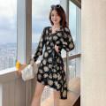 Dress Spring 2021 Picture color S,M,L,XL Short skirt singleton  Long sleeves commute V-neck High waist Decor Type A