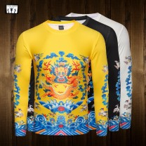 T-shirt Youth fashion Long t Yellow Dragon Robe, long t Black Dragon Robe, long t White Dragon Robe, long t embroidered female, long T3 Peking Opera, long T 2 Peking Opera, short T Yellow Dragon Robe, short T Black Dragon Robe, short T White Dragon Robe routine S,M,L,XL,2XL,3XL Others Long sleeves