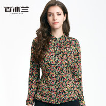 shirt Decor 38/M,40/L,42/XL,44/2XL,46/3XL,48/4XL,50/5XL Spring of 2019 other 91% (inclusive) - 95% (inclusive) Long sleeves Original design Regular square neck Single row multi button shirt sleeve Broken flowers 40-49 years old Self cultivation Vanilla FS1710406