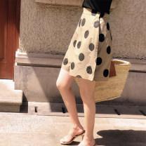 Casual pants XS,S,M,L Summer of 2019 Pant Wide leg pants High waist original routine 25-29 years old 51% (inclusive) - 70% (inclusive) cotton pocket cotton