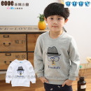 T-shirt Very small fish 100cm,110cm,120cm,130cm,140cm male spring and autumn Long sleeves Crew neck leisure time No model Pure cotton (100% cotton content) Cartoon animation Two, three, four, five, six, seven, eight, nine