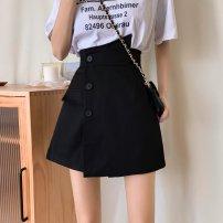 Casual pants Black, white S [90-100kg], m [100-110kg], l [110-120kg], XL [120-135kg], 2XL [135-150kg], 3XL [150-165kg], 4XL [165-175kg], 5XL [175-200kg] Autumn 2020 shorts Wide leg pants High waist commute routine 18-24 years old 51% (inclusive) - 70% (inclusive) Korean version Button polyester fiber