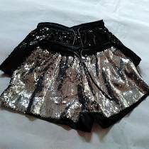 Casual pants Silver Black Average size Summer of 2018 shorts Straight pants Natural waist commute routine One hundred and twenty-seven Others Sequins