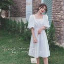 Dress Summer 2021 singleton  Short sleeve commute Loose waist Solid color other routine Others Type H Korean version S,M,L,XL
