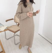 Wool knitwear Autumn 2020 S,M,L,XL Apricot, grey, red, black Long sleeves singleton  Socket Cashmere More than 95% thickening commute easy Low crew neck routine Solid color Socket Korean version 18-24 years old Other / other