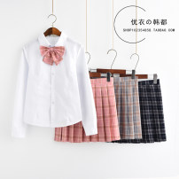 student uniforms Summer 2020, spring 2020, winter 2020, autumn 2020 S,M,L,XL,XXL Short sleeve leisure time skirt 18-25 years old Bailiphil / Bellefield pure cotton
