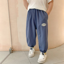 trousers Baiqu bear male 90cm,100cm,110cm,120cm,130cm,140cm,150cm Black, white, blue summer trousers Korean version There are models in the real shooting Harlem Pants / knickerbockers Leather belt middle-waisted cotton Don't open the crotch Cotton 100% X20203 Class B