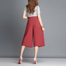 Casual pants Summer of 2018 Cropped Trousers Wide leg pants Natural waist commute Thin money 91% (inclusive) - 95% (inclusive) other Korean version Three dimensional cutting