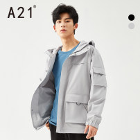 Windbreaker Black light grey A21 Youth fashion 165/80A/S 170/84A/M 175/88A/L 180/92A/XL 185/96A/XXL zipper have more cash than can be accounted for easy Other leisure spring youth Hood (not detachable) tide R411114068S Polyester 100% Solid color Spring 2021