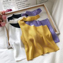 Vest sling Autumn 2020 White, black, purple, yellow Average size singleton  have cash less than that is registered in the accounts Self cultivation commute camisole Solid color 18-24 years old polyester fiber backless