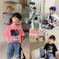 T-shirt white , black , Pink , White pre-sale , Black pre sale , Pre sale of pink OO+KIDS 80cm,90cm,100cm,110cm,120cm,130cm,140cm,150cm neutral summer Short sleeve Crew neck Korean version There are models in the real shooting other Cartoon animation other Chinese Mainland