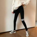 Leggings Autumn 2020 black Average size routine trousers 18-24 years old Other / other pure cotton 91% (inclusive) - 95% (inclusive)