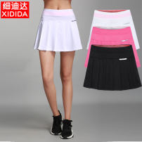 Sports skirt Black, white, rose Xidida / sidida female M (adult), l (adult), XL (adult), XXL (adult), XXXL (adult) Summer of 2019 badminton Moisture absorption, perspiration, quick drying, breathable Sports life