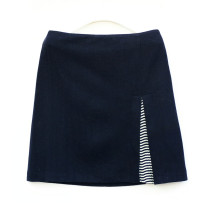 skirt Winter of 2019 S,M,L,XL,2XL Navy Blue Short skirt commute Natural waist Pencil skirt Solid color Type H 865D69032 31% (inclusive) - 50% (inclusive) Wool Other / other wool Korean version
