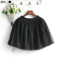 skirt Summer 2017 S,M,L White, black Short skirt Sweet High waist Fluffy skirt Solid color Type A MZ9980-X8505 Lace Other / other polyester fiber Gauze princess